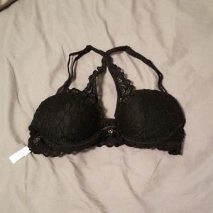 Victoria's Secret Pink lace bra with front clasp